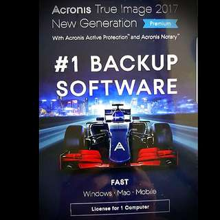 Acronis True Image - Premium Edition - License For 1 Computer (Brand New In Sealed Box)