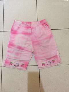 Celana Anak Hello Kitty Pink