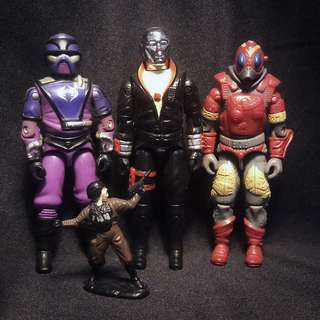"Hasbro G.I. Joe COBRA 4 Figure Lot 3.75"" (1983-88) GI Joe Destro"
