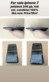 Iphone 7 jetblack 256gb