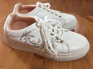 ASOS embroidered sneakers