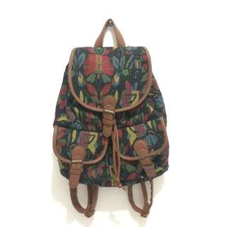 Mexican pattern backpack