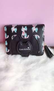 🚚 黑色貓咪短夾錢包