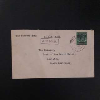 Malaya 1946 Cover B.M.A stamp 50cts