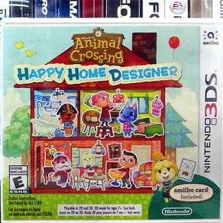 [NEW NOT USED] 3DS Animal Crossing: Happy Home Designer Nintendo Simulation