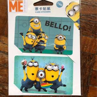 Minions EZ-Link card stickers