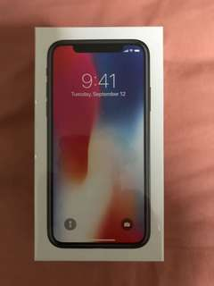 Iphone X space gray 256GB