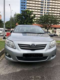 Toyota Altis 1.6 AUTO available for Grab rental