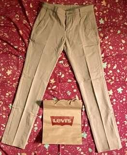 Levi's 511 Commuter Beige Slim Trousers (Khakis)