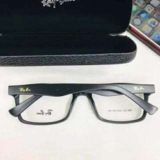 Eyeglass frame replaceable lens with case and wiper