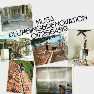 Musa plumber tukang paip,atap bocor,renovation