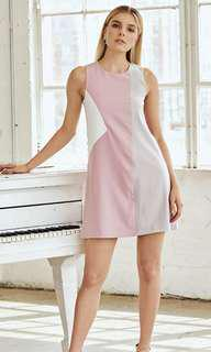 🚚 BNWT *W. By TCL* Shelby Colourblock Dress in Pink Size S