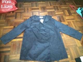 Long sleeves sailor shirt (dark blue)