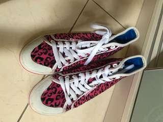 Adidas ori pink polkadots