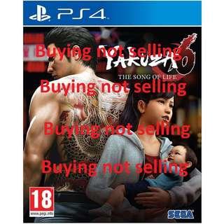 WTB Yakuza 6 R3 $40