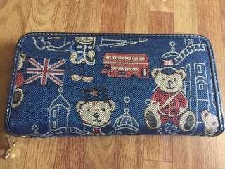 Fashionable bear wallet (Blue)