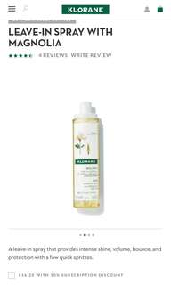 🚚 Klorane Shine Leave-in spray with Magnolia