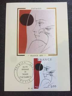 France 1977 Tremois Maxicard FDC stamp