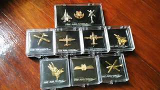 RSAF Air Force Collar Pin Collection