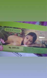 Voucher Spa Martha Tilaar senilai 2.000.000