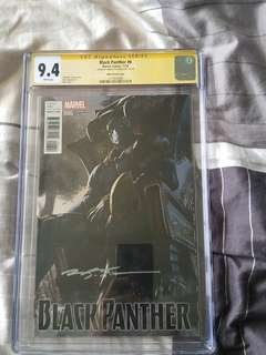Black Panther 6 udon variant cgc ss 9.4 signed by brian stelfreeze
