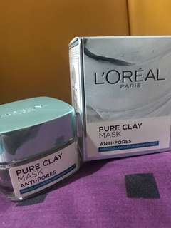 L'OREAL paris pure clay mask anti-pores ( hijau )