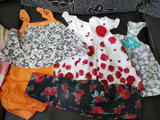 Baju set baby girl 3 - 6month