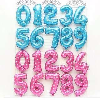 "Number foil balloon 16"" (40cm)"