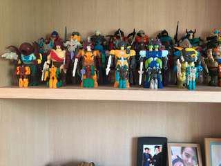 Vintage g1 transformers 2nd wave pretenders complete Hasbro