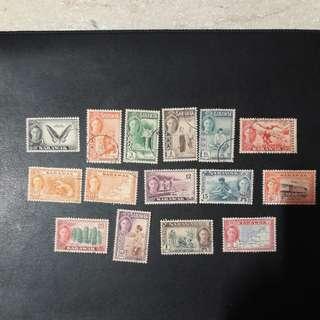 SARAWAK 1950 stamps