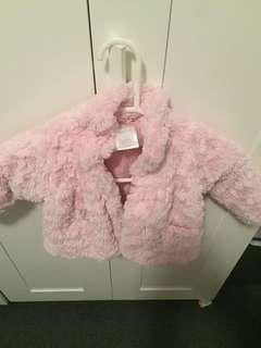 Toddler fur jacket