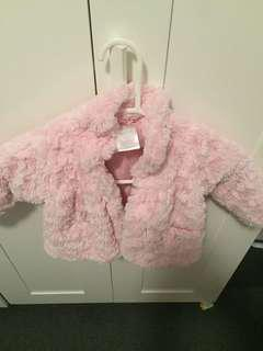 Toddler fur jacket