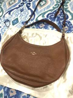 Tas/handbag/bag Coach kulit warna cokelat