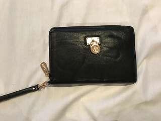 Kate Hill black wallet/clutch