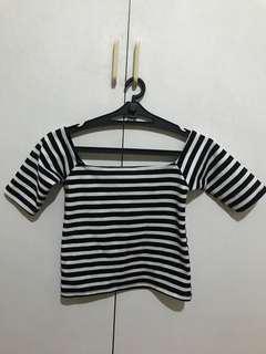 Of shoulder stripes top
