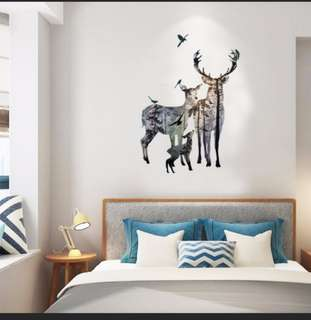 Lovely Family Deers Wall Stickers