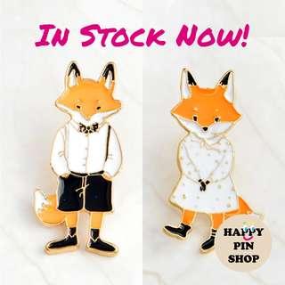Mr & Mrs Fox Enamel Pins