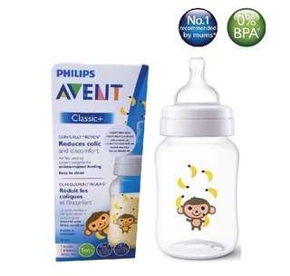 [SCF574/11] Philips Avent Classic Plus Feeding Bottle 9oz/260ml (Single)-Monkey&Banana