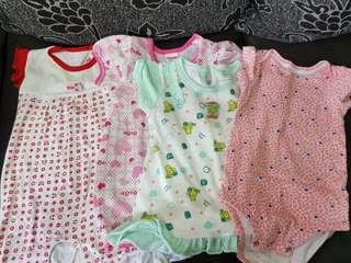 Baju baby girl 6 - 12month (4psng)