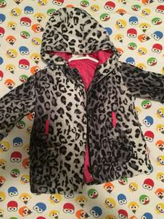 Toddler leopard fur jacket