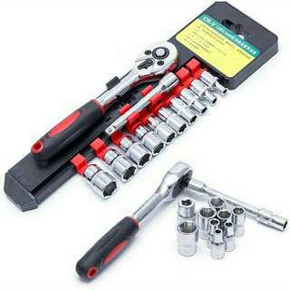 12pcs New Wrench Socket Set Spanner House Hold Hand Tool Set