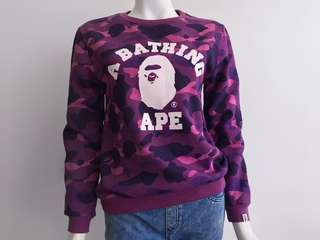 Auth Bathing Ape violet sweater top