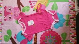Carter's junior pink owl onesie