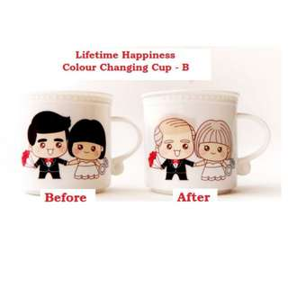 Lifetime Happiness Colour Changing Cup - B