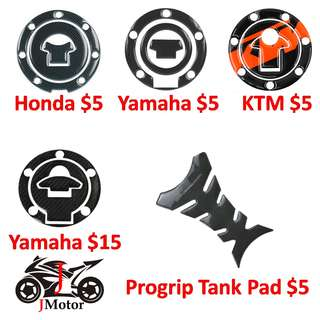 PROGRIP Gellish Carbon Fibre Tank Pad / Tank Bone Sticker / Honda / Yamaha Fuel Cap Sticker