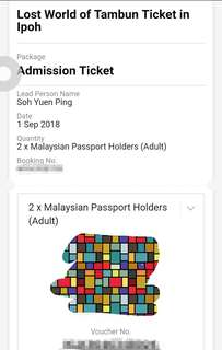 2 Lost World Of Tambun Ticket in Ipoh
