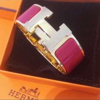 Hermes 愛馬仕 Clic Clac 陶瓷 經典 手鐲 H Bracelet