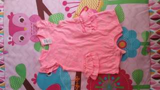 Baby berry pink star romper