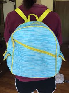 Blue and Yellow Kiddie Backpack