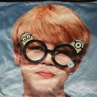 🚚 BTS 防彈少年團 朴智旻Jimin 韓站Honey water 超大毛毯